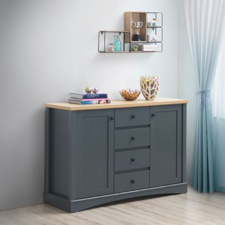 Carden Grey Sideboard with 2 Doors & 4 Drawers